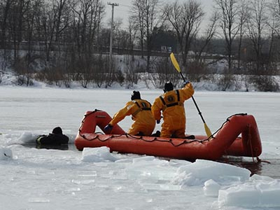 Thin ice water rescue